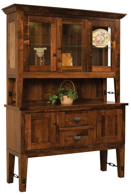 Amish Bridgton Open Deck China Cabinet